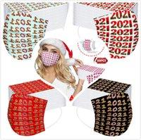 Новый дизайнер Рождественские одноразовые маски для лица пылезащитный профилактика гриппа рождественские маски для лица взрослых мужчин женщины оптом dhe3345