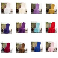كرسي تنورة غطاء الزفاف مأدبة كرسي حامي الغلاف ديكور مطوي تنورة نمط كرسي يغطي مرونة سبانديس كراسي يغطي ZZC2052