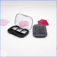 Cosmetic Compact 3 Grids Cuadrado Paleta de sombra de ojos vacíos Transparente Contenedor de lápiz labial con pincel de labio Eyeshadow Embalaje Box1