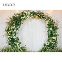Laeacco صورة خلفية الزفاف جدار زهرة إكليل الحفل حفل ستارة الحب المرحلة التصوير خلفية التصوير photoStudio1