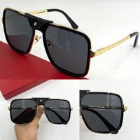 0263sa novo popular óculos de sol mens óculos quadrados com moldura de metal e pernas simples estilo casual óculos 100% uv400 proteção de proteção
