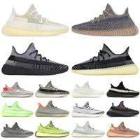 2020 Kanye En Kaliteli Batı Erkek Kadın Koşu Ayakkabıları V2 Bulut Beyaz Gerçek Form Yekeil Zebra Kuyruk Işık Sneakers Eğitmenler