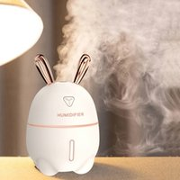 300 ml Auto Luftbefeuchter USB Aroma ätherisches Öl Diffusor für Auto Home Aromatherapie Humidificador Difusor mit Nachtlichtlampe 201009