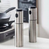 2017 Silver Stainless Steel Oil Sprayer Olive Pump Spraying Oil Bottle Sprayer Can Jar Pot Tool Can Pot Oil Sprayer PPD192