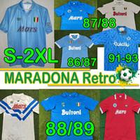 Diego Maradona SSC Napoli Retro Fussball Jerseys 1986 1987 1988 1989 1990 1991 1993 COPPA Italia Vintage Calcio Classic Nàpule Football Hemden