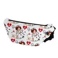 Подросток девушка фитнес спортивный ремень сумка милая медсестра узор для медсестры большие деньги fanny pack женщин мультфильм случайные путешествия талии