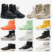 2020 Dize Soru Üçlü Siyah Sis Tanrı Korkusu 1 Ayakkabı Kadın Erkek Basketbol Ayakkabı Buzlu Ladin Yulaf ezmesi Boot Erkek Eğitmenler Sneakers