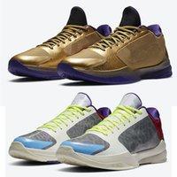 5 بروتو قاعة الشهرة تاكر مامبا العقلية حقل الذهب المعدني الأرجواني بيع جديد الرجال أحذية كرة السلة في الهواء الطلق المدربين الرياضة أحذية رياضية