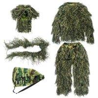 طقم الصيد Guguluza Woodland كامو شبح غي هيل بدلة، ملابس متفوقة للرجال الصيادون قناص