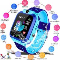 Çocuklar için Yeni Akıllı İzle Q12B Smartwatch Telefon İzle Android IOS GPS Konum Için İki Yönlü Arama 2G SIM Kart Çocuklar için En Iyi Hediye