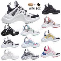 2021 Moda Gündelik Blok Tarama Hakiki Deri Baba Ayakkabı Sneakers Ayakkabı Mesh Siyah Nefes Yaylar Platform Stylis Sho P3Ke #