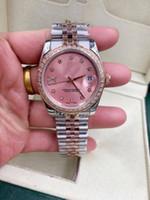Hot De Alta Qualidade Womens Watch Mecânica Automática 36mm Diamante Bezel Sapphire Cystal Senhoras Relógios de Aço Inoxidável Cinta de Relógios de Relógios