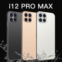 I12 Promax Phones最新の6.8インチスマートフォンAndroid 10.0 12GB RAM 512GB ROM 6800MAHビッグバッテリーデカコアCPU携帯電話24 + 48MPリアカメラ