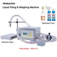 Faixa de enchimento 150ml-17L Semi automática Líquido Pesando máquina de enchimento de óleo comestível Diafragma Bomba de água da bomba de água enchimento QH-G62A