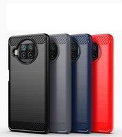 탄소 섬유 텍스처 슬림 갑옷 Xiaomi 10T Lite 5G MI Poco x3 NFC Redmi 9 9A 9C 10X PRO 100pcs / lot