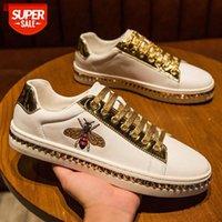 Männer Casual Schuhe Männer Mode Atmungsaktive Turnschuhe 2020 neue Biene Weiße Shoestenis Masculino Sportschuhe Zapatos de hombre # My4t