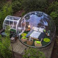 نفخ فقاعة خيمة فقاعة منزل فندق للقطر البشري 3M واضح مصنع الجملة مضخة الهواء الحرة الشحن مجانا