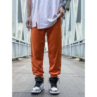 pantalones de chándal para hombre Joggers pantalones casuales de Hip-hop pantalones unisex Sweatpants Moda rayas Panalled lápiz del basculador pantalones tamaño asiático