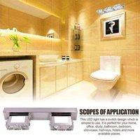 Venda quente 12w quatro luzes superfície de cristal banheiro lâmpada de quarto branco quente luz de prata decoração iluminação moderna lâmpadas à prova d'água