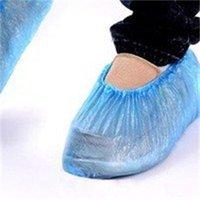 Kunststoff wasserdichte Einweg-Schuhabdeckungen Regentag Teppichbodenschutz Blaue Reinigung Schuhabdeckung Überschuhe für Zuhause 10 m2