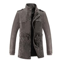 Men's Leather Jackets New Fashion Winter Spring Solid Color Leather Coats Men Zipper Stand Collar Casual Outerwears Size L-3XL