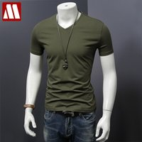 MyDBSH Men Marque Vêtements Été Solide T-shirt Mâle Casual Tshirt Fashion Mesure Mes manches courtes Plus Taille 5XL Livraison Gratuite Full C0119