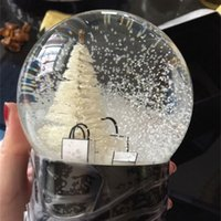A-Snow Globe Tree Inside Aut Decoration Crystal Ball Special Novelty Christmas con scatola regalo per