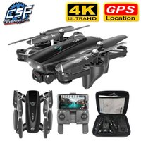 S167 GPS DRONE CON CAMERA 5G RC Quadcopter Drones HD 4K WIFI FPV Plegable Off-Point Fotos Video Dron Helicopter Toy 201208