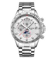 Mode wathces 2021 hommes de luxe hommes montre l'acier inoxydable sport plongée montre de la main de la main de diamant jour montre montre montre wach relog hombre