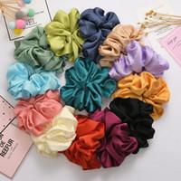 Novo grande moda scrunchies rabo de cavalo macio acessórios para mulheres meninas vintage grande popular cabelo elástico headband