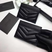 Держатель для дизайнерской карты Мужская женская комната для женщин Держатель карты Black Lambskin Мини-кошелек для монеты Pocket Pocket Внутренний слот Держатель карты Натуральная кожа