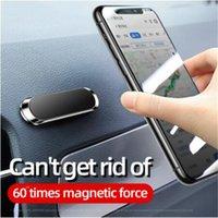 2021 Universal Mini Magnetic Car Phone Supporto Supporto Metal Magnete Mobile Telefono cellulare GPS Stand Auto Mount Dashboad Wall con pacchetto al dettaglio