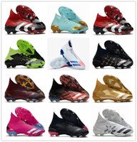 Nuevas botas de fútbol Fútbol Zapato de fútbol Dragón Mutator Predators 20+ FG Borgoña Raza humana Pharrell Williams Pogbas Uniforia Pack Cleas de localidad