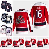 Hombres Hockey 9 Mikko Koivu Columbus Blue Jackets Retro Retro Jersey 16 Max Domi 14 Gustav Nyquist 3 Seth Jones 13 Cam Atkinson