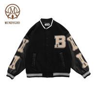 Mindygoo Chaqueta de alta calidad al por mayor OEM diseñador personalizado Deportes Invierno Varsity Béisbol Fleece Fashion Streetwear Mujeres Hombres Ropa
