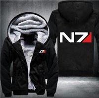 الولايات المتحدة الأمريكية حجم الرجال قداس تأثير N7 زيبر سترات وبلوزات إثخن هوديي معطف بلوزات عارضة أزياء الرجال هوديي الشارع الشهير C1116