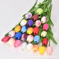 50pcs Tulips en latex Artificial PU fleur bouquet réel fleurs pour la décoration de maison de mariage fleurs décoratifs multi-couleurs Fy2425