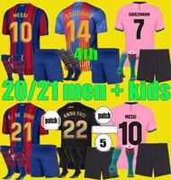 Camiseta الرابع De Futbol 2020 2021 Grizmann Ansu Fati Messi 20 21 كرة القدم جيرسي Coutinho de Jong Enfants كرة القدم قميص الرجال أطقم