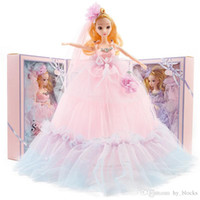 40cm Wedding Long Set Outfit Princess Wears Evening Clothes Party Gift Birthday Dress Doll Barbie Accessories Kids Girl Dress Colorful Nltu