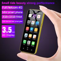 "Soyes X60 Mini Smartphone Unterstützung Google Play 3GB 32 GB 3,5 ""1800mAh Android 6.0 Gesicht ID Entsperren 4G-Telefone Portable Handy"