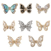 3D Butterfly Nail Art Decorations Entry Lux Ley Nail Paillettes Diamonte decalcomanie per le unghie art
