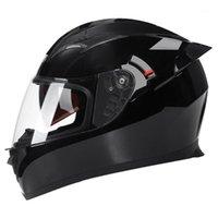 Черный мотоциклетные шлемы Moto Motocross Riding Racing Biker Шлем Двухместный объектив Full Place Motorcycle Helmet Casco Capacete1