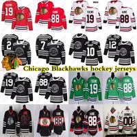 Chicago Blackhawks jérseis 00 Griswold 19 Jonathan Toews 88 Patrick Kane 2 Duncan Keith Clark Griswold Brandon Saad jérsei do hóquei