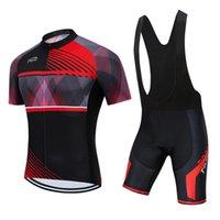 Yeni Kırmızı Teleyi Pro Bisiklet Takımı Kısa Kollu erkek Bisiklet Jersey Yaz Nefes Bisiklet Giyim Setleri