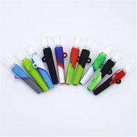 Une mini tuyau de tabac de chatter des bangs de verre portatif de tuyaux de verre DAB plate-forme de silicone tubes de silicone verre bong tabagisme accessoires 420 poignées tuyaux DHL