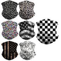 Casquettes de cyclisme Masques Masque Sport Masque Imprimé Magic Turban Turban Triangle Écharpe Sunscreen et respirant pour une activité de plein air avec 7 styles