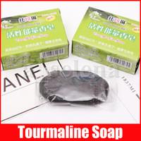 Handmade Active Energy Black Twarz Ciało Care Clear Tourmaline Soap Anty Bakteryjne Bambusowe Węgiel Soap 70g