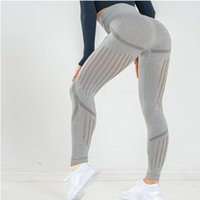 NORMOV Seamless Women Leggings Fitness High Waist Push Up Hollow Out Spandex Jeggings Casual Solid Leggings 201203