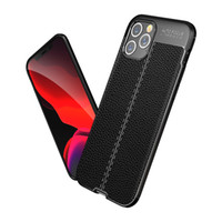For Apple 12 Mini Mobile Phone Case Creative TPU Anti-Fall IPhone12 Mobile Phone Shell Litchi Pattern Protective Cover Cell Phone Cases