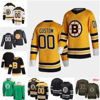 2021 Reverse Retro Jersey Hockey Boston Bruins David Pastrnak Patrice Bergeron Zdeno Chara Charlie Coyle Bourque Rask Krejci Marchand Orr